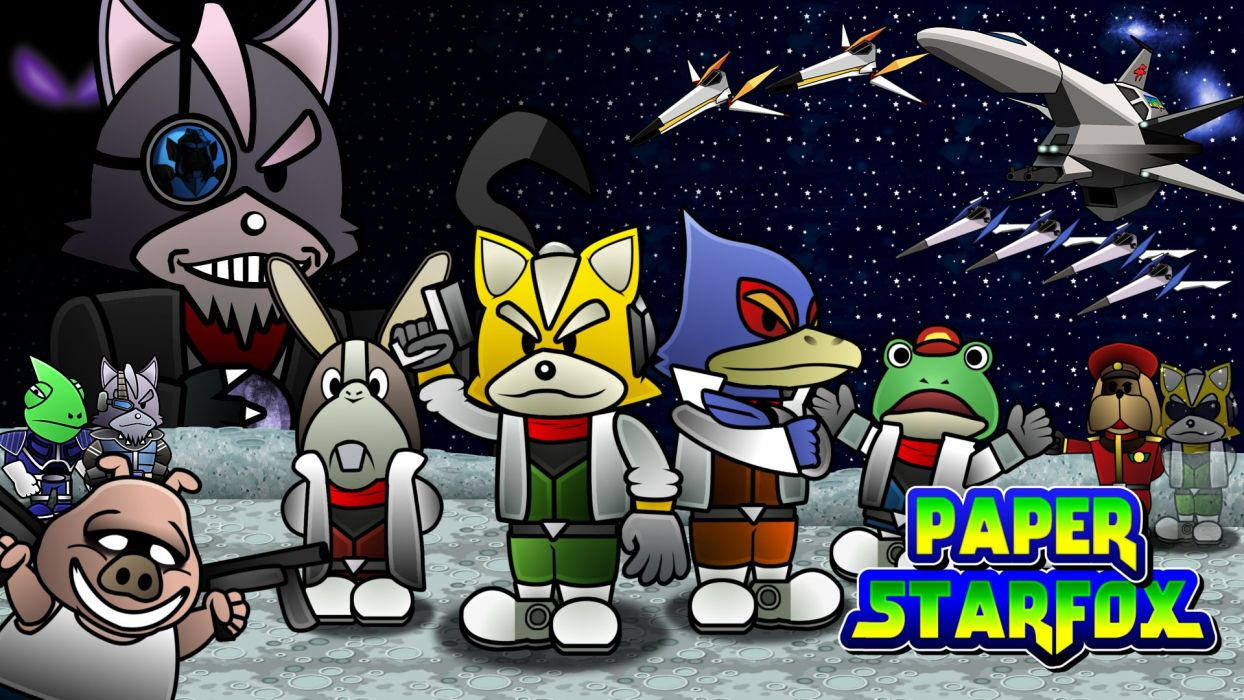 STARFOX shooter family nintendo sci-fi star fox (3) wallpaper