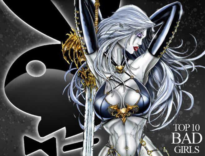 LADY DEATH horror dark demon satan goddess fantasy sexy babe (1) wallpaper