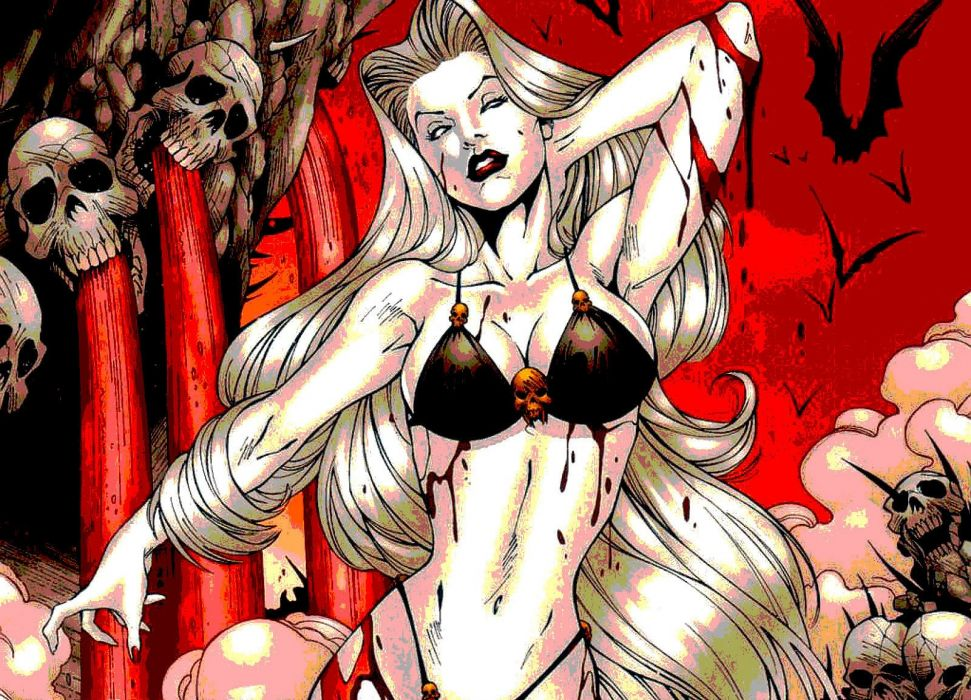 LADY DEATH horror dark demon satan goddess fantasy sexy babe (2) wallpaper