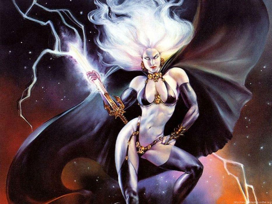 LADY DEATH horror dark demon satan goddess fantasy sexy babe (8) wallpaper