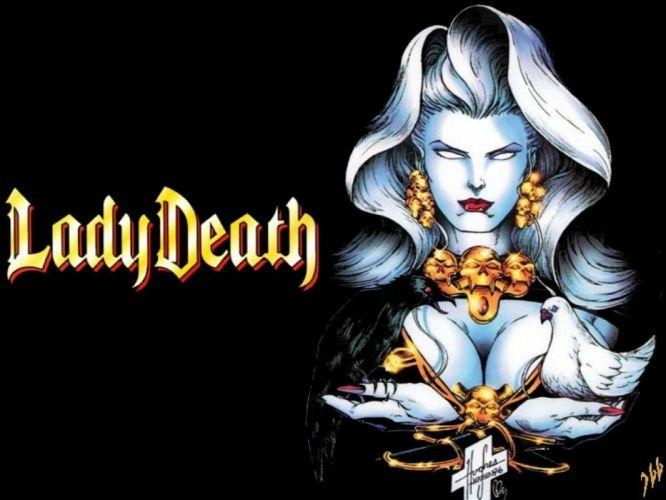 LADY DEATH horror dark demon satan goddess fantasy sexy babe (9) wallpaper