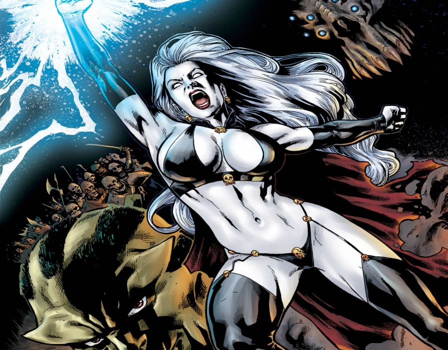 LADY DEATH horror dark demon satan goddess fantasy sexy babe (11) wallpaper