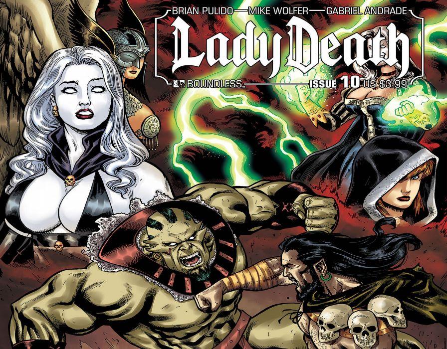 LADY DEATH horror dark demon satan goddess fantasy sexy babe (12) wallpaper