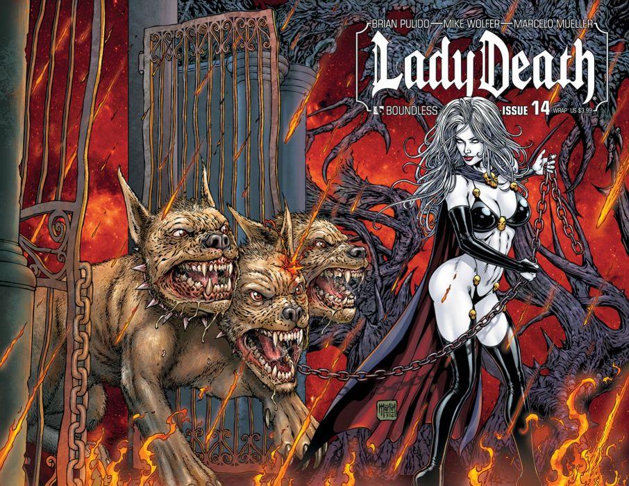 LADY DEATH horror dark demon satan goddess fantasy sexy babe (14) wallpaper
