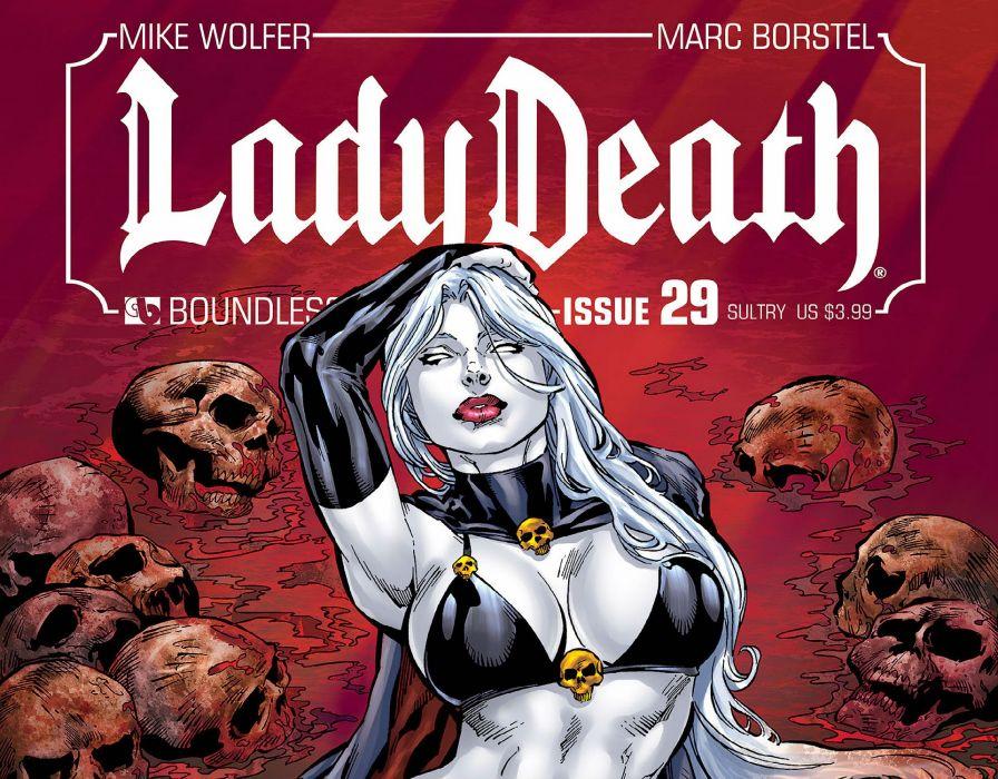 LADY DEATH horror dark demon satan goddess fantasy sexy babe (17) wallpaper