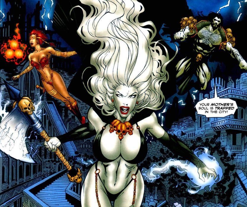 LADY DEATH horror dark demon satan goddess fantasy sexy babe (18) wallpaper