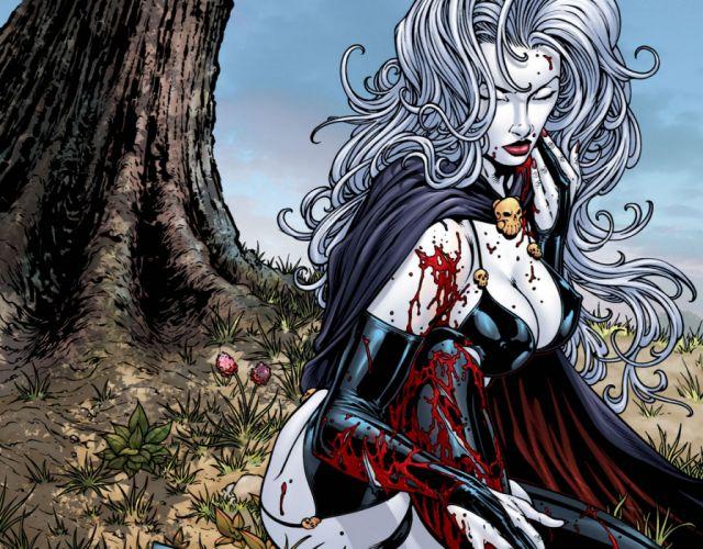 LADY DEATH horror dark demon satan goddess fantasy sexy babe (22) wallpaper