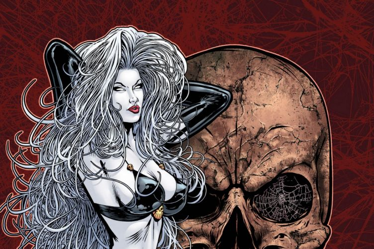 LADY DEATH horror dark demon satan goddess fantasy sexy babe (20) wallpaper