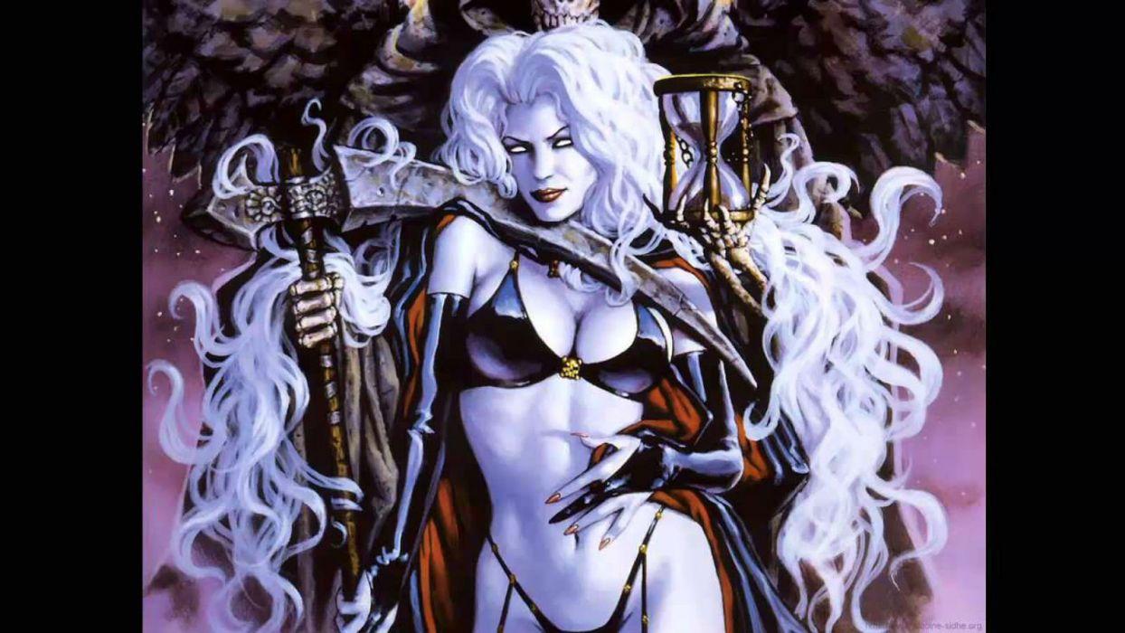 LADY DEATH horror dark demon satan goddess fantasy sexy babe (28) wallpaper