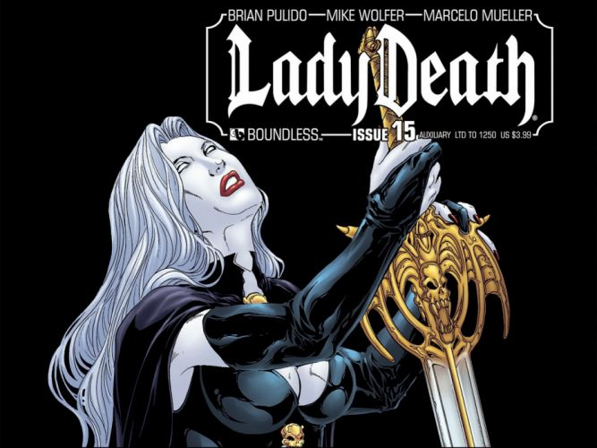 LADY DEATH horror dark demon satan goddess fantasy sexy babe (35) wallpaper