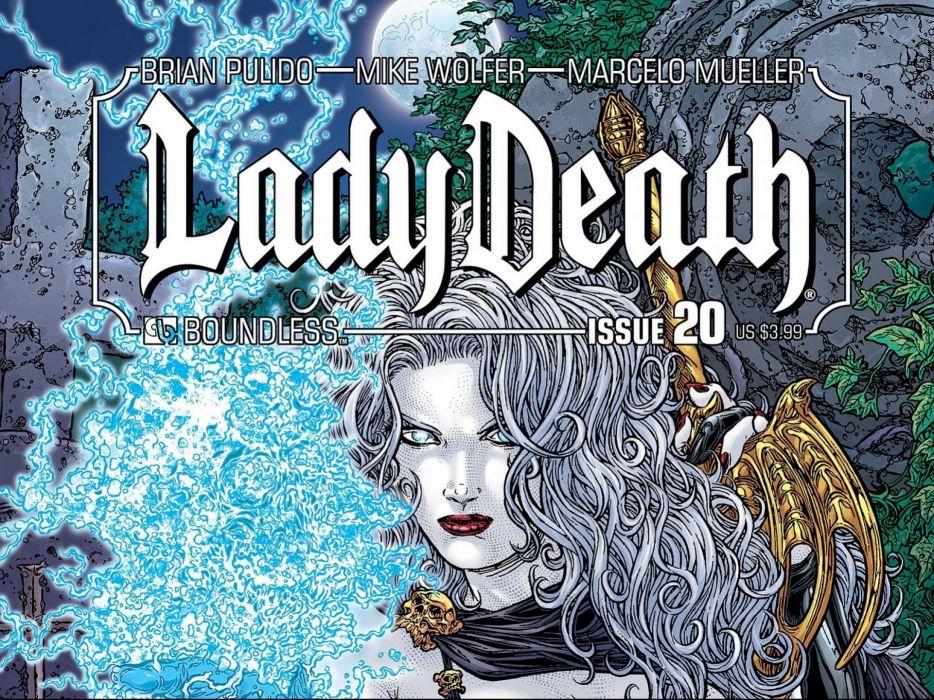 LADY DEATH horror dark demon satan goddess fantasy sexy babe (36) wallpaper