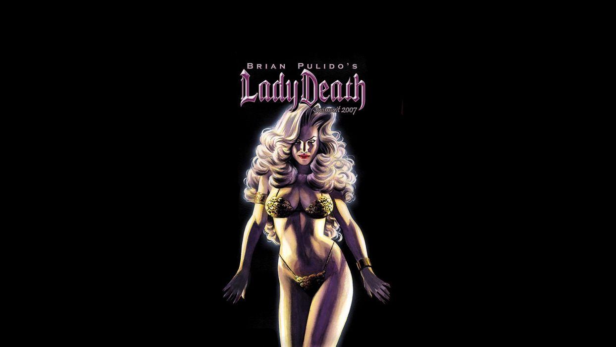 LADY DEATH horror dark demon satan goddess fantasy sexy babe (42) wallpaper