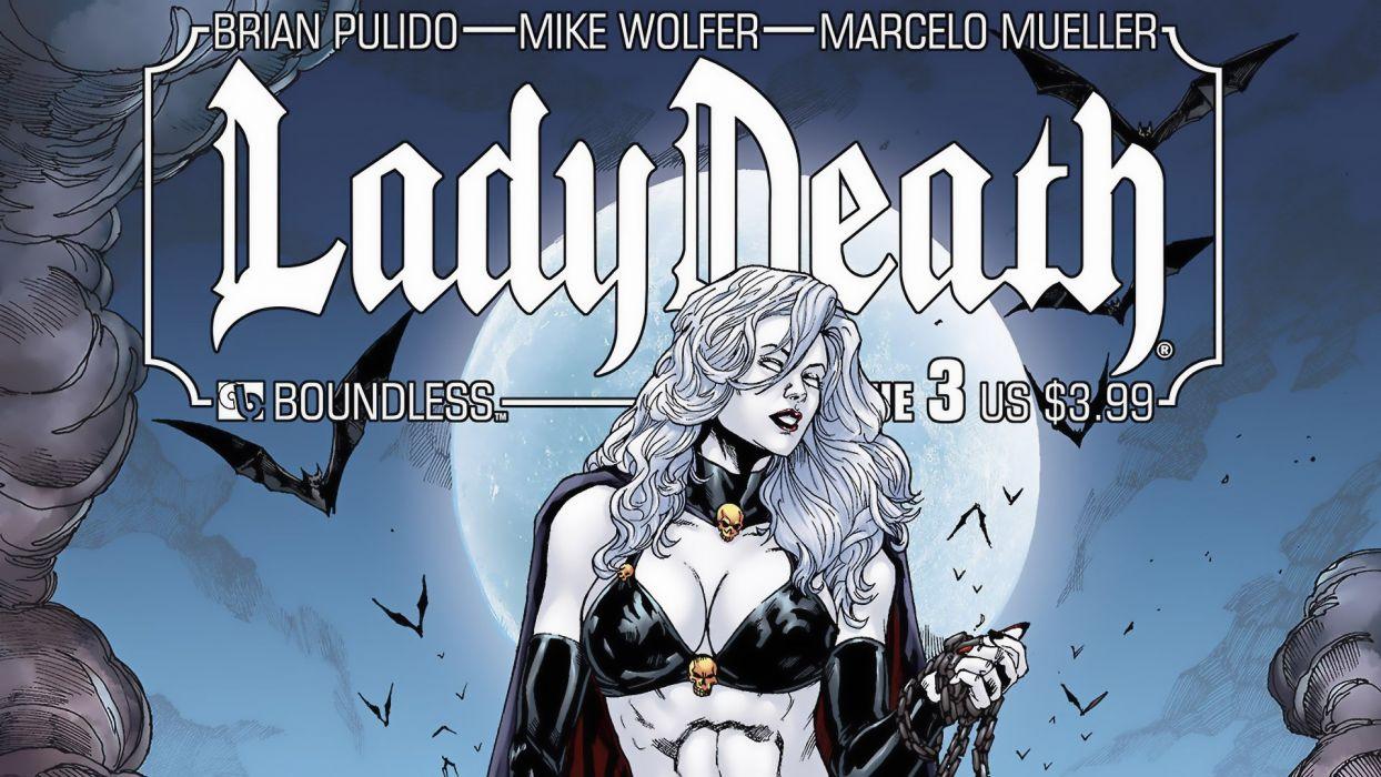 LADY DEATH horror dark demon satan goddess fantasy sexy babe (46) wallpaper