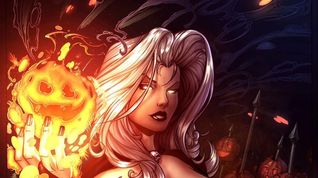 LADY DEATH horror dark demon satan goddess fantasy sexy babe (56) wallpaper