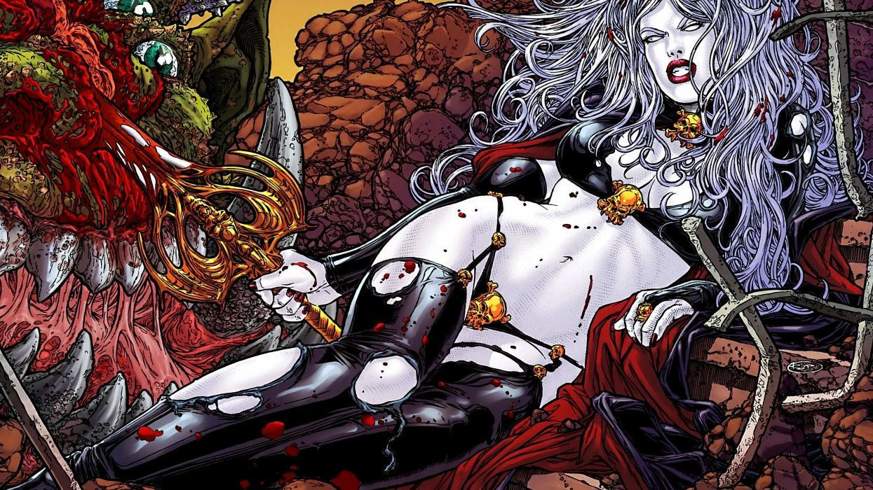 LADY DEATH horror dark demon satan goddess fantasy sexy babe (49) wallpaper