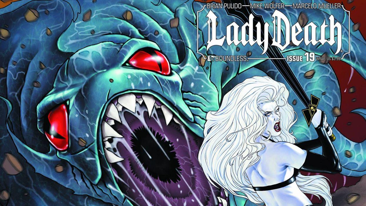 LADY DEATH horror dark demon satan goddess fantasy sexy babe (52) wallpaper