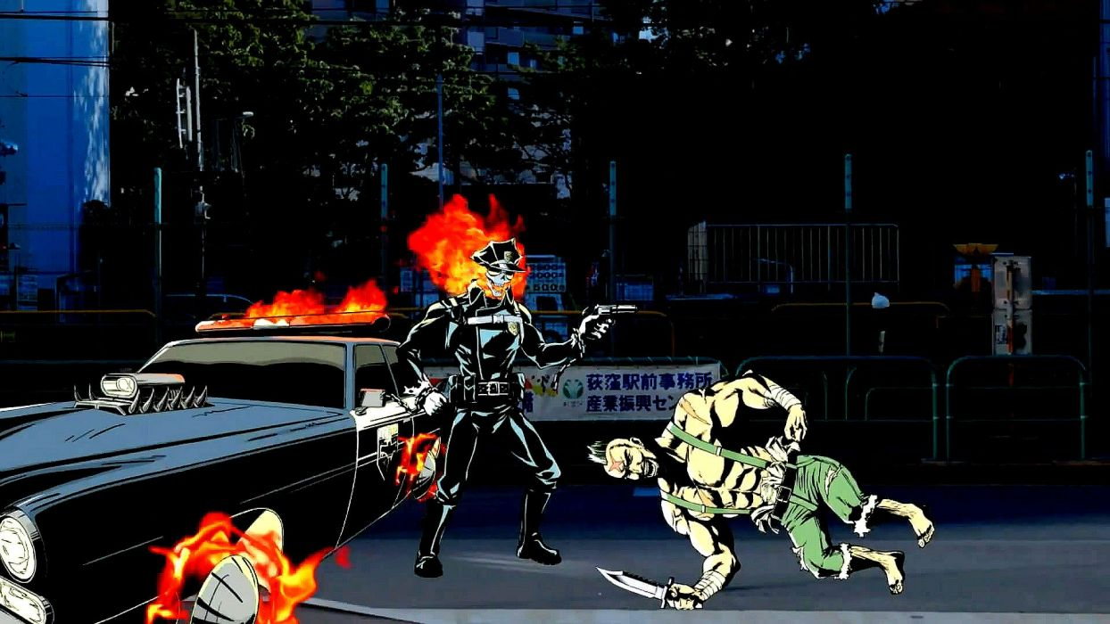 INFERNO COP anime cartoon animation skull dark comedy action (1) wallpaper
