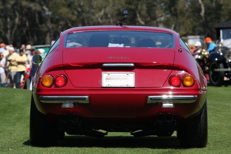 1970 Ferrari 365 GTB-4 Daytona Car Vehicle Sport Supercar Sportcar Supersport Classic Retro Italy Red 1536x1024 (4) wallpaper