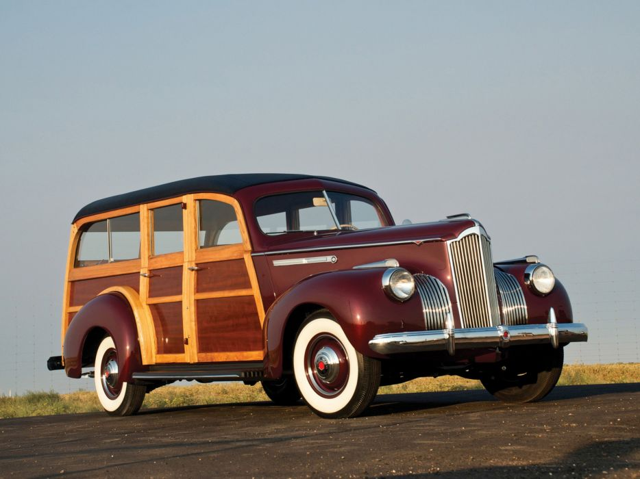 Packard 110 Station-Wagon Wood 1941 Car Vehicle Classic Retro 4000x3000 (1) wallpaper