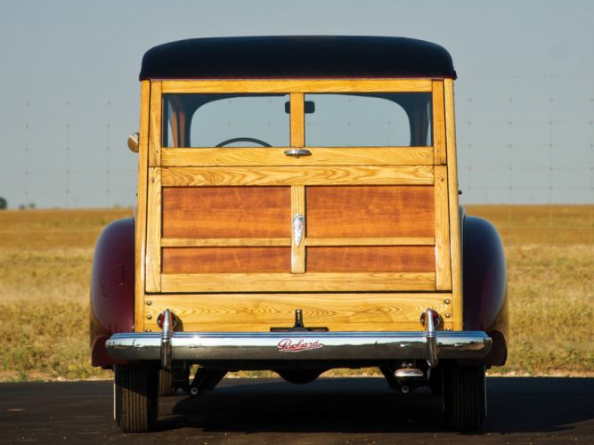 Packard 110 Station-Wagon Wood 1941 Car Vehicle Classic Retro 4000x3000 (3) wallpaper