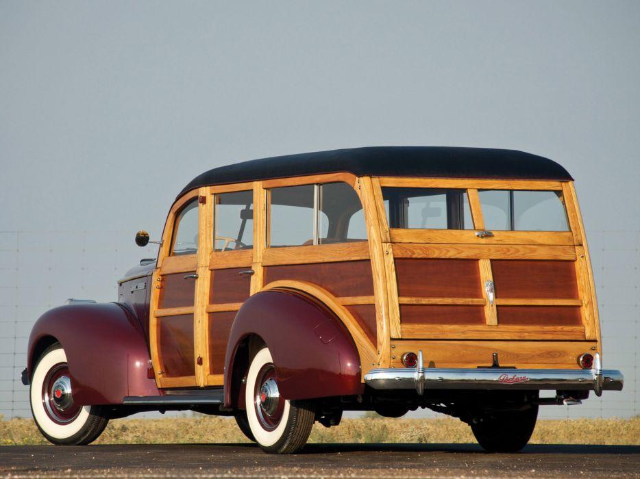 Packard 110 Station-Wagon Wood 1941 Car Vehicle Classic Retro 4000x3000 (4) wallpaper