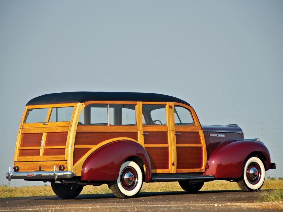 Packard 110 Station-Wagon Wood 1941 Car Vehicle Classic Retro 4000x3000 (7) wallpaper