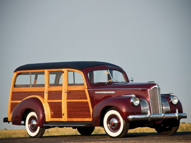 Packard 110 Station-Wagon Wood 1941 Car Vehicle Classic Retro 4000x3000 (6) wallpaper