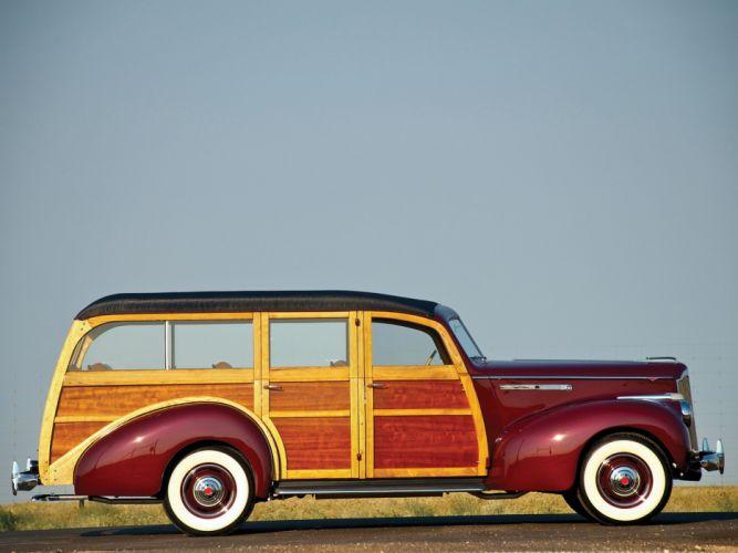 Packard 110 Station-Wagon Wood 1941 Car Vehicle Classic Retro 4000x3000 (8) wallpaper