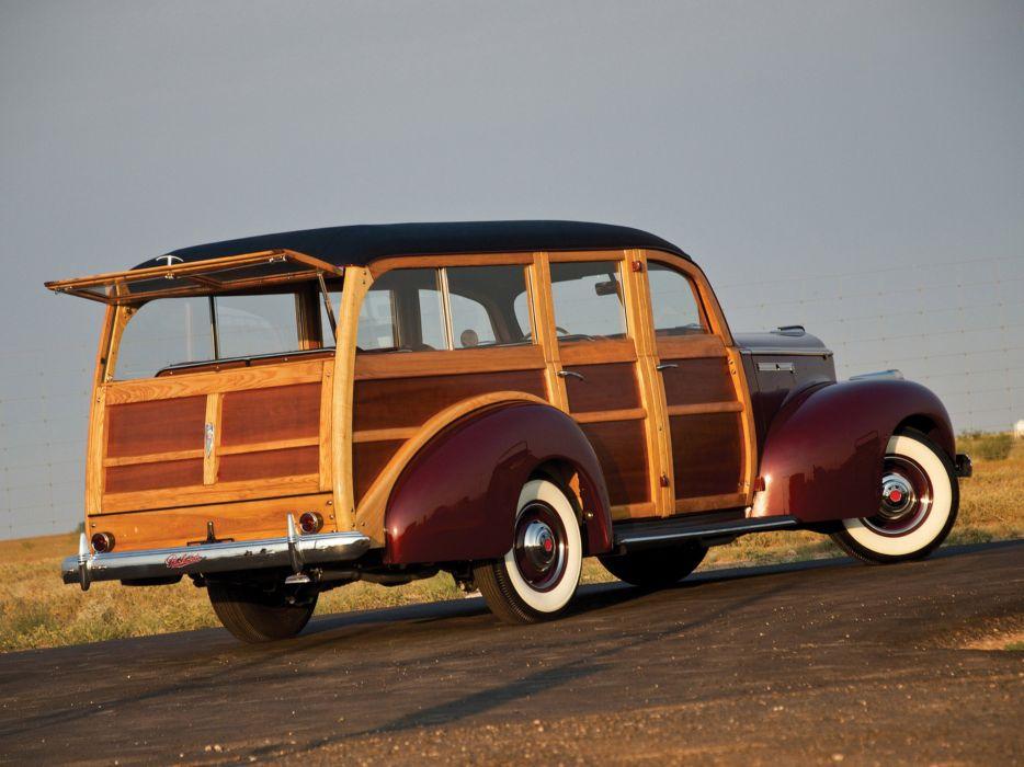 Packard 110 Station-Wagon Wood 1941 Car Vehicle Classic Retro 4000x3000 (9) wallpaper