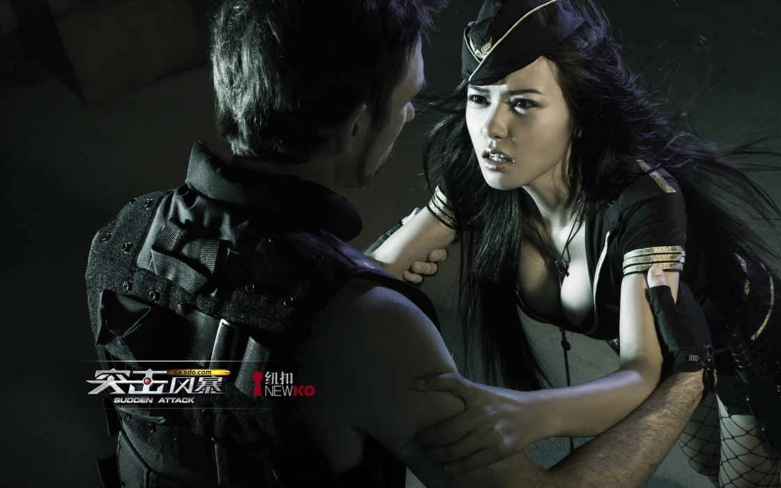 SUDDEN ATTACK shooter action online tactical fighting cosplay sexy babe wallpaper