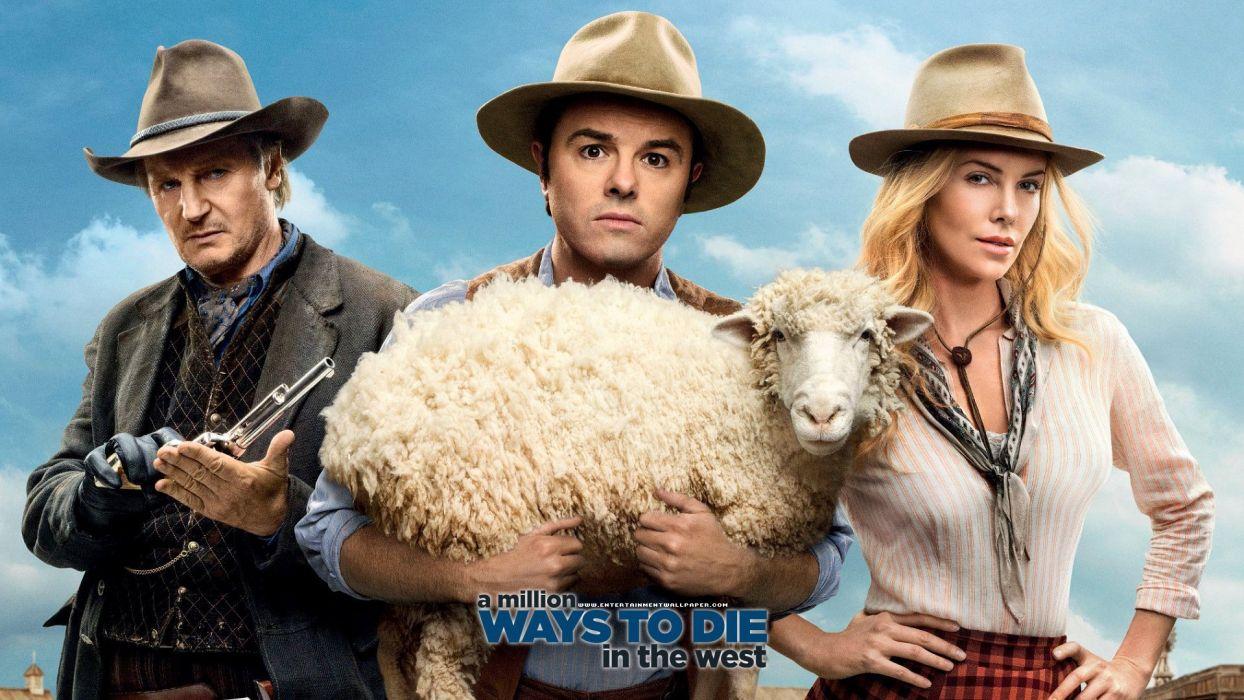MILLION WAYS DIE WEST comedy western film charlize theron (45) wallpaper