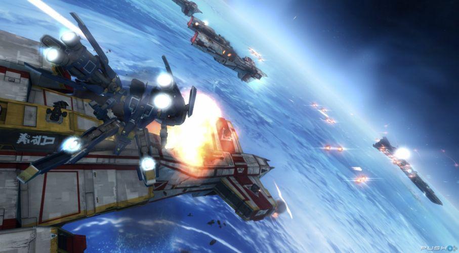 STRIKE SUIT ZERO space flight combat sci-fi spaceship simulator mecha (2) wallpaper