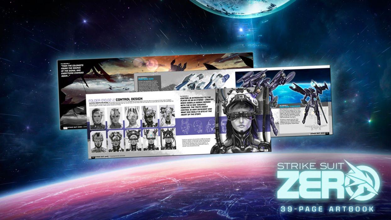 STRIKE SUIT ZERO space flight combat sci-fi spaceship simulator mecha (10) wallpaper