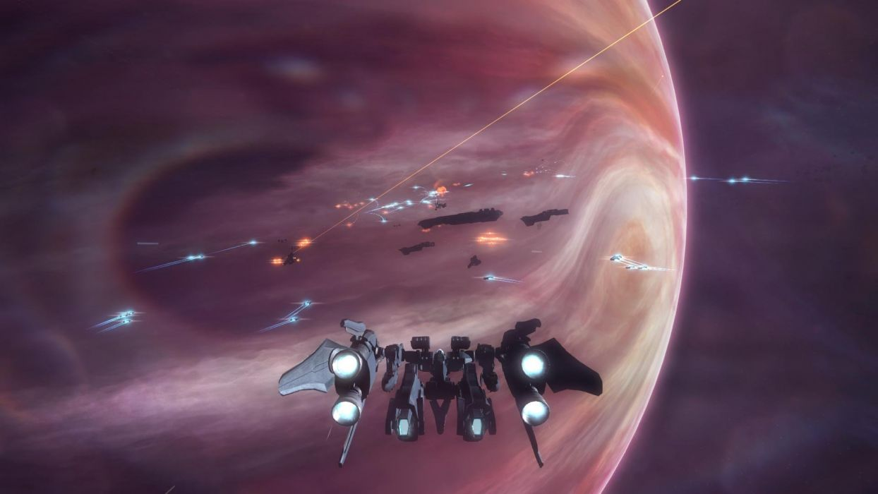 STRIKE SUIT ZERO space flight combat sci-fi spaceship simulator mecha (24) wallpaper