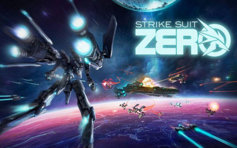STRIKE SUIT ZERO space flight combat sci-fi spaceship simulator mecha (32) wallpaper