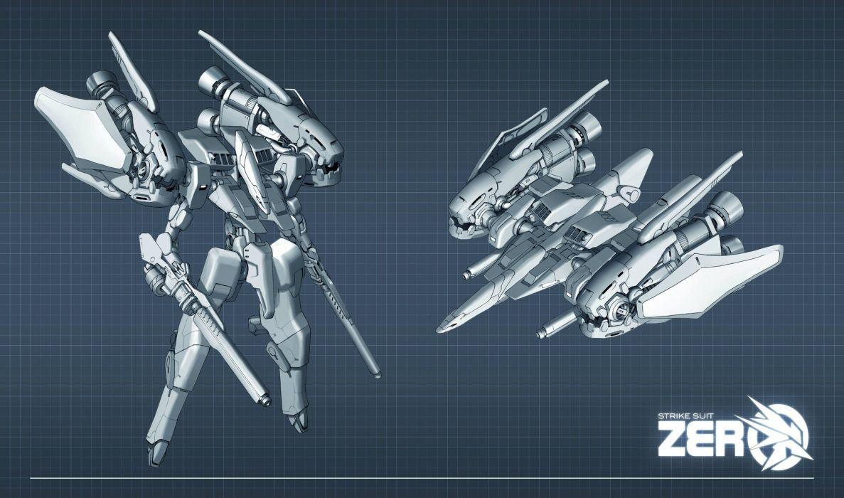 STRIKE SUIT ZERO space flight combat sci-fi spaceship simulator mecha (44) wallpaper