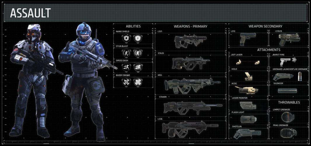 KILLZONE Shadow Fall shooter action sci-fi warrior (11) wallpaper