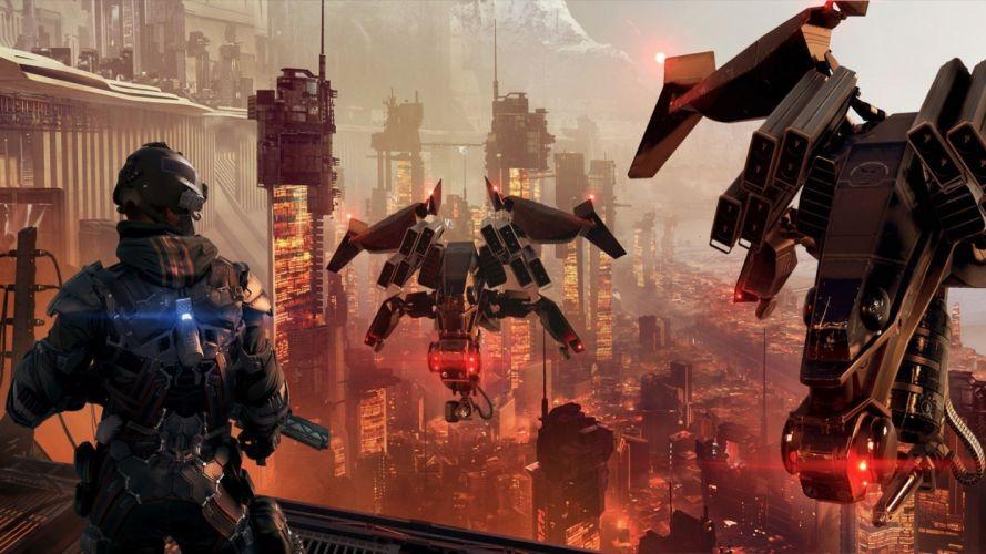 KILLZONE Shadow Fall shooter action sci-fi warrior (14) wallpaper
