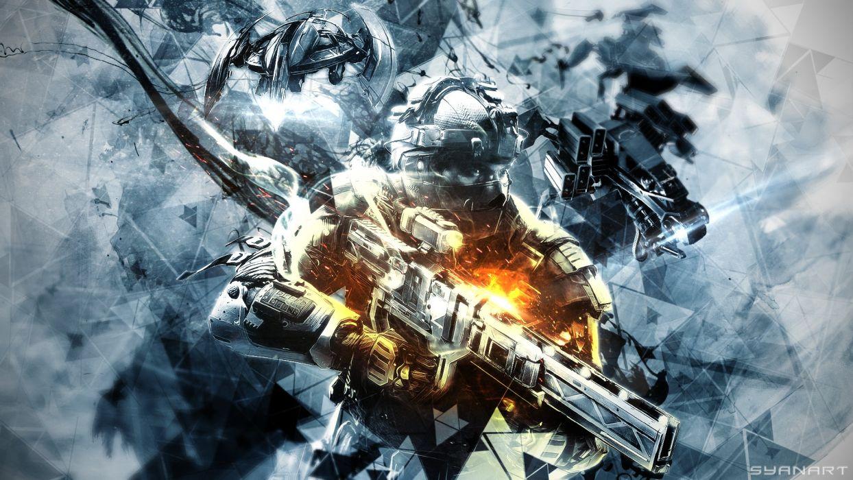 KILLZONE Shadow Fall shooter action sci-fi warrior (238) wallpaper