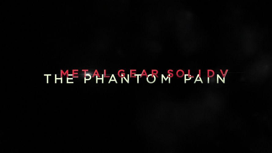 METAL GEAR SOLID Phantom Pain shooter action adventure stealth (30) wallpaper