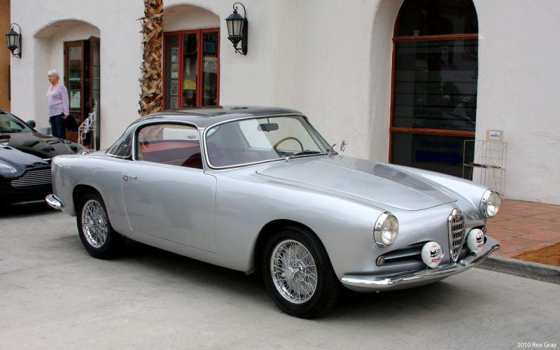 1956 Alfa-Romeo 1900C Super-Sprint berlinetta Touring Car Vehicle Classic Retro Italy 4000x2500 wallpaper