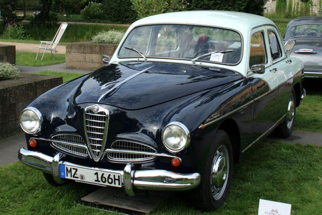 1956 Alfa-Romeo 1900-S Berlina Car Vehicle Classic Retro Italy 4000x2667 wallpaper