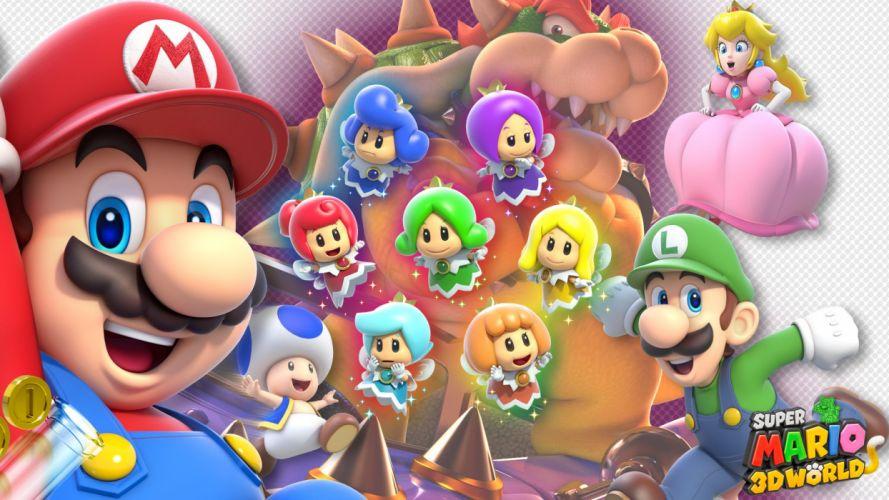 SUPER MARIO 3-D WORLD platform family nintendo (3) wallpaper