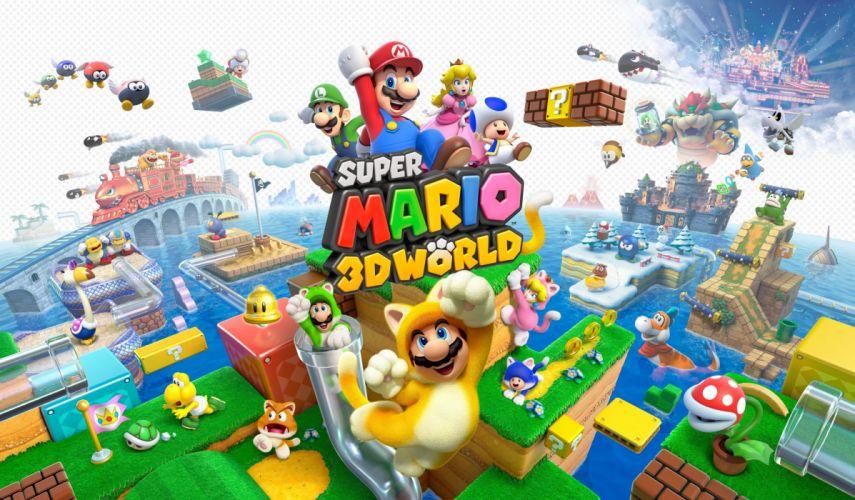 SUPER MARIO 3-D WORLD platform family nintendo (8) wallpaper