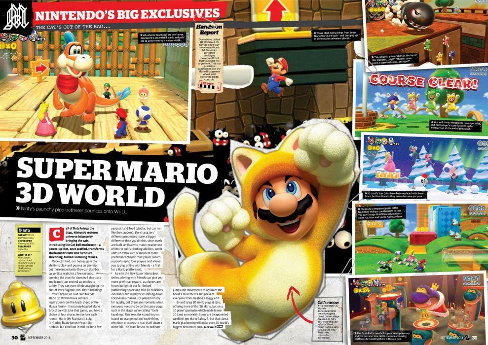 SUPER MARIO 3-D WORLD platform family nintendo (19) wallpaper