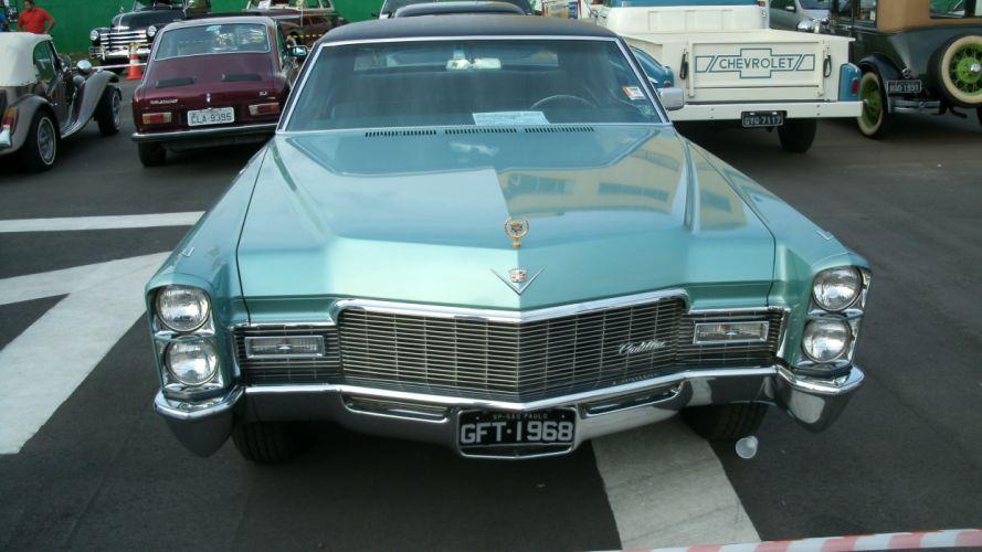 1968 Cadillac Coupe DeVille Retro Classic wallpaper