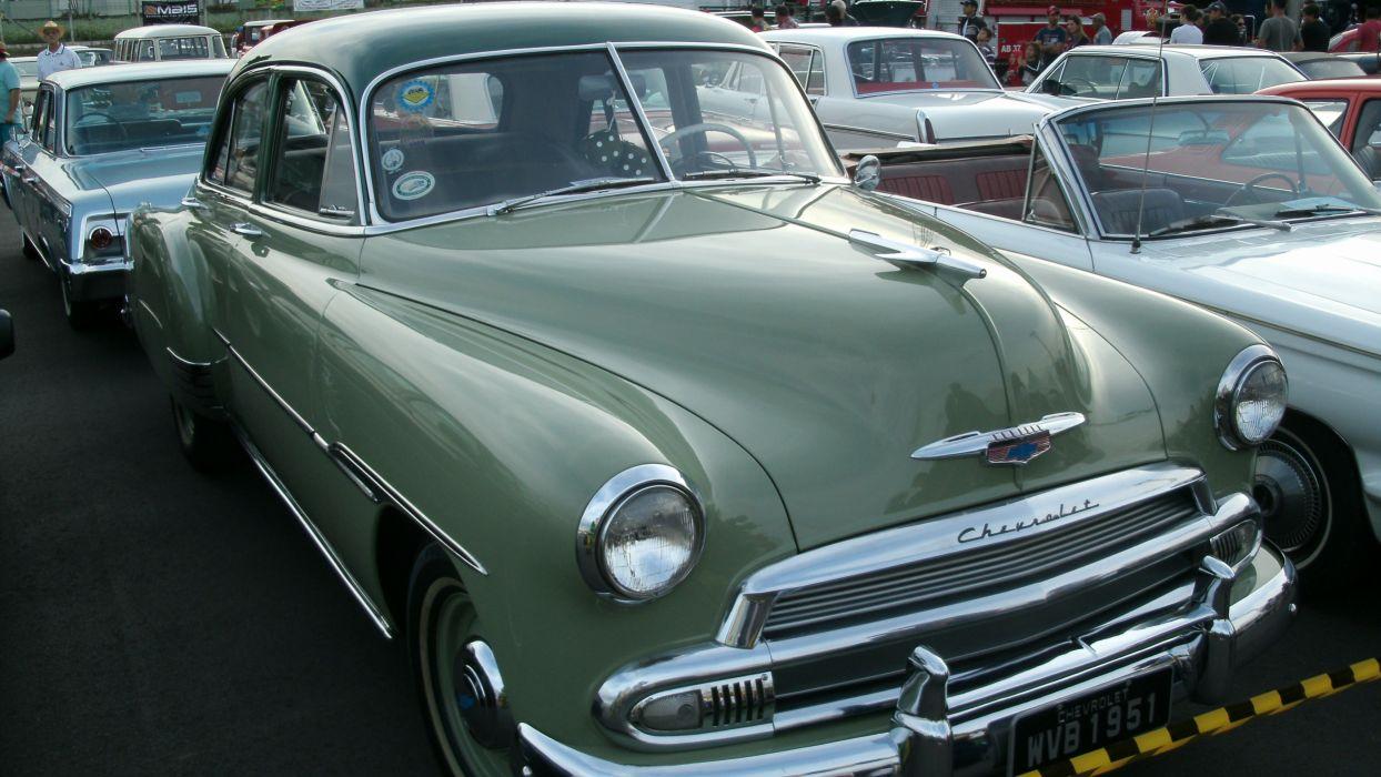 1951 Chevrolet Styleline Deluxe Sedan Retro Classic wallpaper