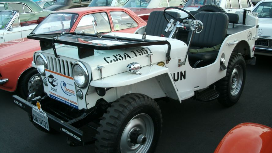 1951 Willys Jeep United Nation UN Peace Military Retro Classic wallpaper