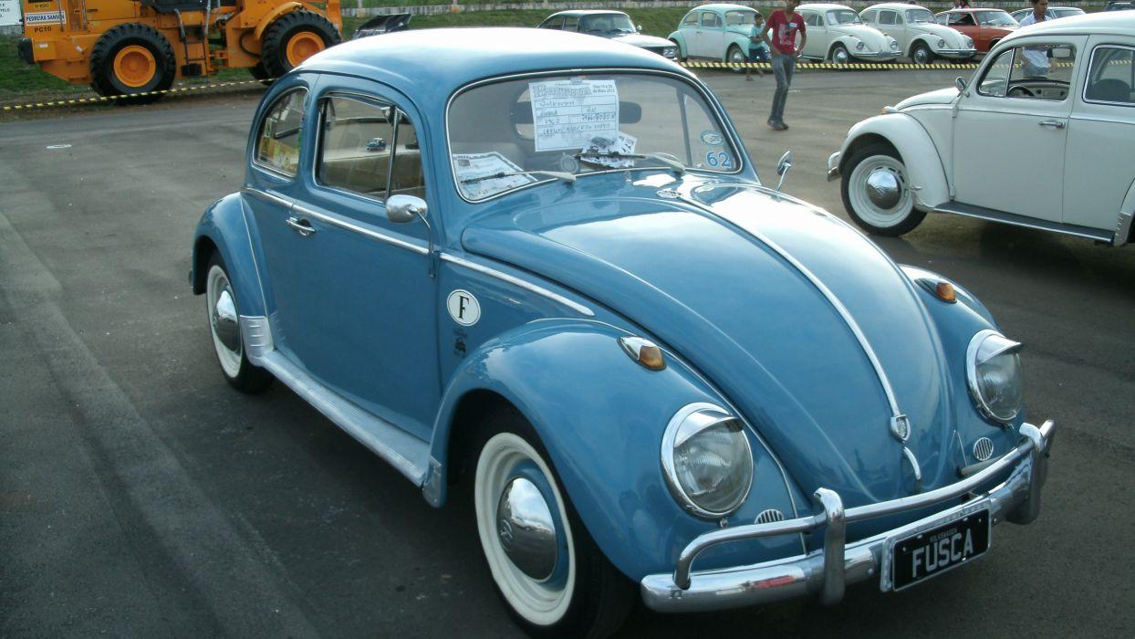 1962 Volkswagen VW Beetle Fusca Brazilian Retro Classic wallpaper