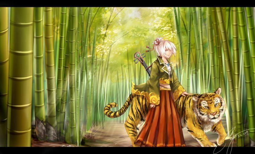 animal instrument monkeyyan original tiger wallpaper